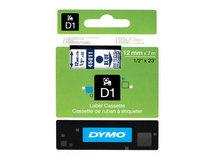 DYMO D1 - Selbstklebend - Blue On Transparent - Rolle (1,2 cm x 7 m) 1 Rolle(n) Etikettenband - für LabelMANAGER 150, 350, 350D, 450, 450D, PC; LabelPOINT 150, 250, 350