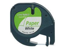 DYMO LetraTAG - Papier - Schwarz auf Weiß - Rolle (1,2 cm x 4 m) 1 Kassette(n) Band - für LetraTag LT-100H, LT-100T