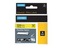 DYMO - Nylon - Schwarz auf Gelb - Roll (1.2 cm x 3.5 m) 1 Rolle(n) Flexitape - für Rhino 4200, 6000, 6000 Hard Case Kit; RhinoPRO 1000, 3000, 5000