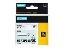 DYMO - Vinyl - weiß - Roll (1.9 cm x 5.5 m) 1 Rolle(n) Etiketten - für Rhino 4200, 6000, 6000 Hard Case Kit; RhinoPRO 5000, 5000 Hard Case Kit