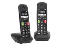 E290 Duo - Schnurlostelefon mit Rufnummernanzeige - ECO DECTGAP - Schwarz + zusätzliches Handset