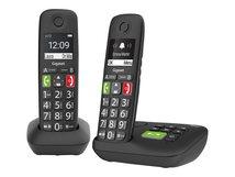 E290A Duo - Schnurlostelefon - Anrufbeantworter mit Rufnummernanzeige - ECO DECTGAP - Schwarz + zusätzliches Handset