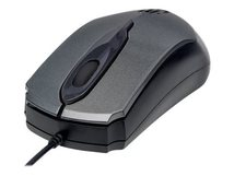 Edge USB Wired Mouse, Grey, 1000dpi, USB-A, Optical, Compact, Three Button with Scroll Wheel, Low friction base, Three Year Warranty, Blister - Maus - optisch - 3 Tasten - kabelgebunden - USB