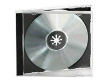 Ednet 10 CD Jewelcases Single Black-Tray - Behälter CD-Aufbewahrung - Kapazität: 1 CD/DVD (Packung mit 10)