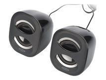 Ednet 2.0 Multimedia Desktop - Lautsprecher - für PC - 6 Watt (Gesamt) - Schwarz, Anthrazit