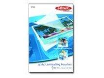 ednet 25 A5 Laminating Pouches 80 Mic - 80 Mikron - 25 - 154 x 216 mm Taschen für Laminierung