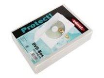 Ednet - DVD Jewel Case - Kapazität: 1 CD/DVD - durchsichtig (Packung mit 3)