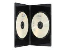 Ednet - DVD-Videobox - Kapazität: 2 CD/DVD - Schwarz (Packung mit 5)