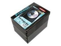 Ednet Single Box - DVD-Videobox - Kapazität: 1 CD/DVD - Schwarz (Packung mit 10)