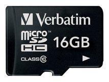 - Flash-Speicherkarte (microSDHC/SD-Adapter inbegriffen) - 16 GB - Class 10 - microSDHC
