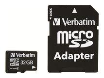 - Flash-Speicherkarte (microSDHC/SD-Adapter inbegriffen) - 32 GB - Class 10 - microSDHC