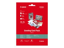Greeting Card Pack GCP-101 - 100 x 150 mm - 170 g/m² - 10 Blatt Fotopapier-Kit