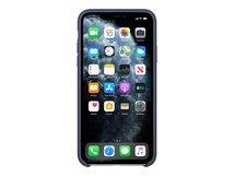 - Hintere Abdeckung für Mobiltelefon - Leder, bearbeitetes Aluminium - Mitternachtsblau - für iPhone 11 Pro Max