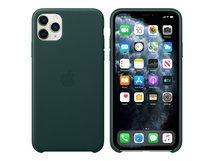 - Hintere Abdeckung für Mobiltelefon - Leder - Forest Green - für iPhone 11 Pro Max