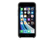 - Hintere Abdeckung für Mobiltelefon - Silikon - Schwarz - für iPhone 7, 8, SE (2. Generation)