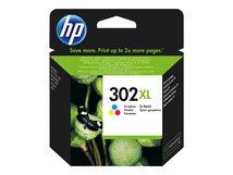 HP 302XL - Hohe Ergiebigkeit - Farbe (Cyan, Magenta, Gelb) - original - Tintenpatrone - für Deskjet 11XX, 21XX, 36XX; Envy 451X, 452X; Officejet 38XX, 46XX, 52XX