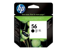 HP 56 - Schwarz - Original - Tintenpatrone - für Deskjet 51XX; Officejet 42XX, 56XX, J5508, J5520; Photosmart 7550; psc 11XX, 12XX, 13XX