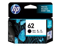 HP 62 - Schwarz - original - Tintenpatrone - für Envy 55XX, 56XX, 76XX; Officejet 250, 57XX, 8040