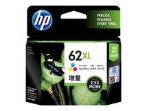 HP 62XL - Hohe Ergiebigkeit - Farbe (Cyan, Magenta, Gelb) - Original - Tintenpatrone - für Envy 55XX, 56XX, 76XX; Officejet 200, 250, 252, 57XX, 8040