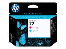 HP 72 - Cyan, Magenta - Druckkopf - für DesignJet SD Pro MFP, T1100, T1120, T1200, T1300, T2300, T610, T620, T770, T790, T795