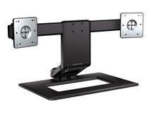 HP Adjustable Dual Display Stand - Aufstellung (Standfuß) für 2 LCD-Displays - Bildschirmgröße: bis zu 61 cm (bis zu 24 Zoll) - für EliteBook 735 G6, 745 G6, 830 G6, 840 G6, 850 G6; ProBook 445r G6, 455r G6, 640 G5, 650 G5