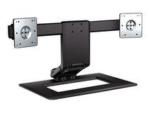 HP Adjustable Dual Display Stand - Aufstellung (Standfuß) für 2 LCD-Displays - Bildschirmgröße: bis zu 61 cm (bis zu 24 Zoll) - für EliteBook 745 G3, 84XX, 850 G2, 85XX; Folio 13; ProBook 450 G2, 64XX, 650 G1, 65XX; ZBook