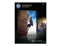 HP Advanced Glossy Photo Paper - Glänzend - 130 x 180 mm 25 Blatt Fotopapier - für Deskjet 2622; Envy 50XX, 76XX; Officejet 52XX, 80XX; Photosmart B110, Wireless B110