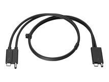 HP Combo - Thunderbolt-Kabel - 70 cm - Schwarz - für HP Thunderbolt Dock G2; EliteBook 1050 G1; EliteBook x360 1030 G3; ProBook 645 G4