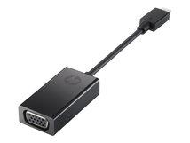 HP - Externer Videoadapter - USB-C - D-Sub - Schwarz - für Elite x2; EliteBook 1050 G1, 840r G4; EliteBook x360; ProBook x360; ZBook Studio x360 G5