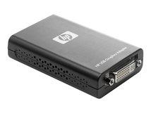 HP - Externer Videoadapter - USB - DVI - für EliteDesk 705 G4, 800 G4; EliteOne 800 G3; ProDesk 400 G5, 600 G4; ProOne 400 G3, 600 G3
