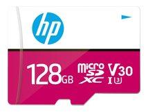 HP - Flash-Speicherkarte (microSDXC-an-SD-Adapter inbegriffen) - 128 GB - Video Class V30 / UHS-I U3 - microSDXC UHS-I