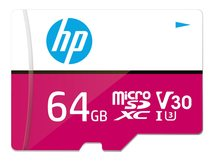 HP - Flash-Speicherkarte (microSDXC-an-SD-Adapter inbegriffen) - 64 GB - Video Class V30 / UHS-I U3 - microSDXC UHS-I