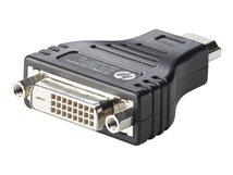 HP HDMI to DVI Adapter - Videoanschluß - HDMI / DVI - DVI-D (W) bis HDMI (M) - für HP 20, 22, 24; Chromebook 14 G5; Chromebox G2; EliteBook 1050 G1; Pavilion 24, 560