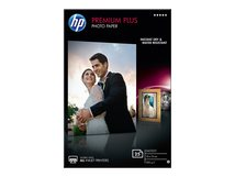 HP Premium Plus Photo Paper - Glänzend - 100 x 150 mm - 300 g/m² - 25 Blatt Fotopapier - für Deskjet 2622; Envy 50XX, 76XX; Officejet 52XX, 80XX; Photosmart B110, Wireless B110