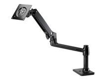 HP Single Monitor Arm - Befestigungskit (Spannbefestigung für Tisch, Tischplattenbohrung, Montagearm für Einzelbildschirm) - für LCD-Display - tiefschwarz - Bildschirmgröße: bis zu 61 cm (bis zu 24 Zoll) - für HP t430; EliteDesk 705 G4, 705 G5; EliteOne 800 G5, 800 G6; ProDesk 400 G5; ProOne 400 G4