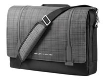 "HP Slim Ultrabook Messenger - Notebook-Tasche - 39.6 cm (15.6"") - Gray Plaid, Black Twill - für HP 245 G7; Elite x2; EliteBook 735 G6; EliteBook x360; ProBook 455r G6; ZBook 15 G6"