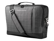 """HP Slim Ultrabook Top Load - Notebook-Tasche - 39.6 cm (15.6"""") - Gray Plaid, Black Twill - für Elite x2; EliteBook 735 G6, 745 G6; EliteBook x360; ProBook 455r G6, 640 G5, 650 G5"""