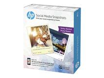 HP Social Media Snapshots - Sanft glänzend - selbstklebend, entfernbarer Klebstoff - 11 mil - 100 x 130 mm - 265 g/m²