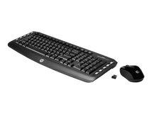 HP Wireless Classic Desktop - Tastatur-und-Maus-Set - kabellos - 2.4 GHz - Deutsch - für HP 110, 15, 2000, 22, 23; Pavilion 15, 17, 23, 500, 550, 59X, dm1, dv6, dv7, g4, G6, g7