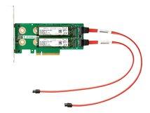 HPE Universal SATA HHHL M.2 Kit - Schnittstellenadapter - M.2 - M.2 Card - PCIe - für ProLiant DL325 Gen10, DL345 Gen10, DL360 Gen10