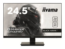 "iiyama G-MASTER Black Hawk G2530HSU-B1 - LED-Monitor - 62.2 cm (24.5"") - 1920 x 1080 Full HD (1080p) - TN - 250 cd/m²"
