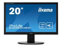 "iiyama ProLite E2083HSD-1 - LED-Monitor - 50.8 cm (20"") (19.5"" sichtbar) - 1600 x 900 - TN - 250 cd/m²"