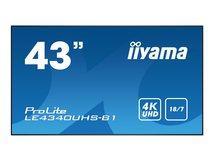 "iiyama ProLite LE4340UHS-B1 - 109 cm (43"") Klasse (108 cm (42.5"") sichtbar) LED-Display - Digital Signage - Android - 4K UHD (2160p) 3840 x 2160 - mattschwarz"