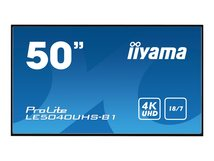 "iiyama ProLite LE5040UHS-B1 - 127 cm (50"") Klasse LED-Display - Digital Signage - 4K UHD (2160p) 3840 x 2160 - mattschwarz"