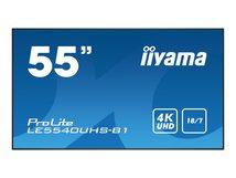 "iiyama ProLite LE5540UHS-B1 - 140 cm (55"") Klasse (138.68 cm (54.6"") sichtbar) LED-Display - Digital Signage - Android - 4K UHD (2160p) 3840 x 2160 - mattschwarz"