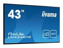 "iiyama ProLite LH4346HS-B1 - 109.2 cm (43"") Klasse (108 cm (42.5"") sichtbar) LED-Display - Digital Signage - 1080p (Full HD) 1920 x 1080 - mattschwarz"