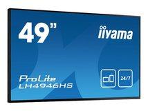 "iiyama ProLite LH4946HS-B1 - 124.5 cm (49"") Klasse (123.2 cm (48.5"") sichtbar) LED-Display - Digital Signage - 1080p (Full HD) 1920 x 1080 - mattschwarz"