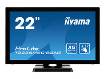 "iiyama ProLite T2236MSC-B2AG - LED-Monitor - 55 cm (21.5"") (21.5"" sichtbar) - Touchscreen - 1920 x 1080 Full HD (1080p) - A-MVA"