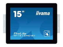"iiyama ProLite TF1515MC-B1 - 38 cm (15"") Klasse LED-Display - Digital Signage - mit Touchscreen 1024 x 768 - kantenbeleuchtet - Schwarz"