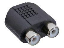 InLine - Audio-Adapter - Stereo Mini-Klinkenstecker (W) bis RCA x 2 (W) - Schwarz